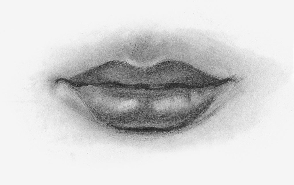 Drawing Lips, Female, Demo, Step 3 | Lee Hammond | How to Draw Facial Features for Beginners | Artists Network