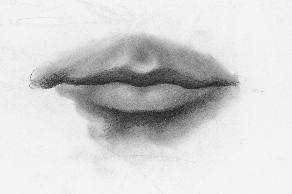 Drawing Lips, Male, Demo, Step 3 | Lee Hammond | How to Draw Facial Features for Beginners | Artists Network