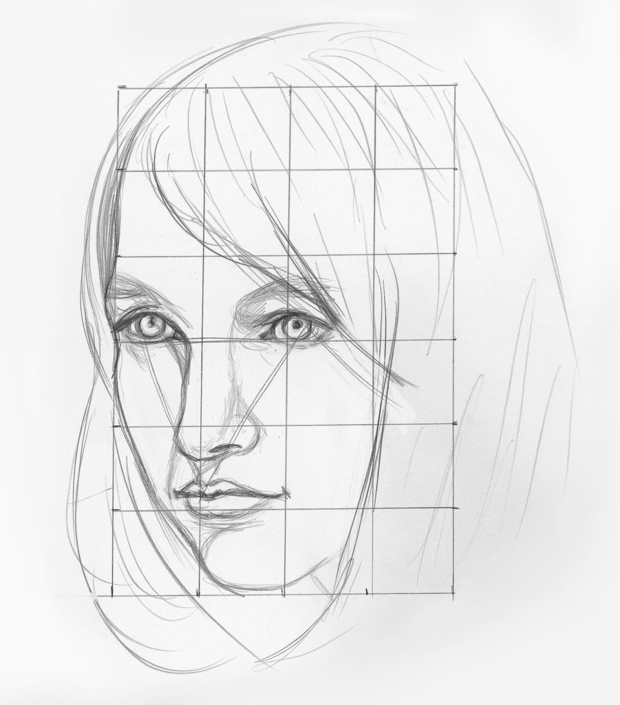 Line Drawing Using Direct Method : How to draw facial features a beginner s guide