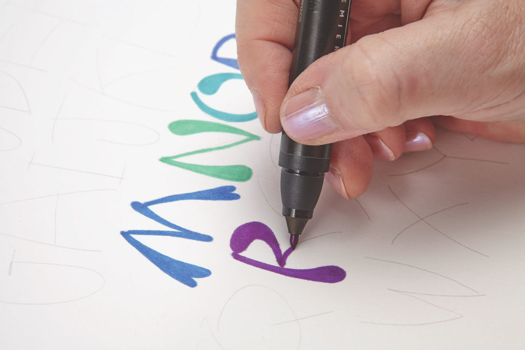 Matisse Inspired, Step 1 | 10 Hand Lettering Techniques with an Artful Spin by Joanne Sharpe | Artists Network