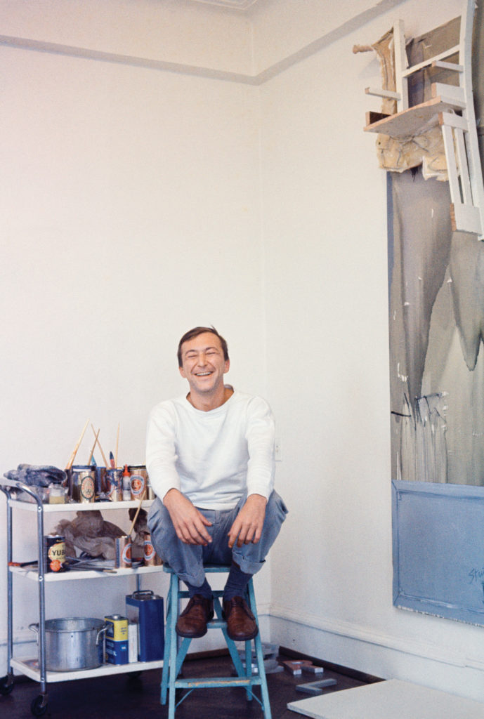 Jasper Johns in his Riverside Drive studio in New York City in 1964 (detail) PHOTO: BOB ADELMAN ©BOB ADELMAN ESTATE