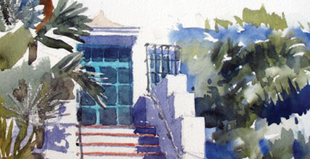 Santa Barbara Courthouse Steps by Stephen Harby, cropped