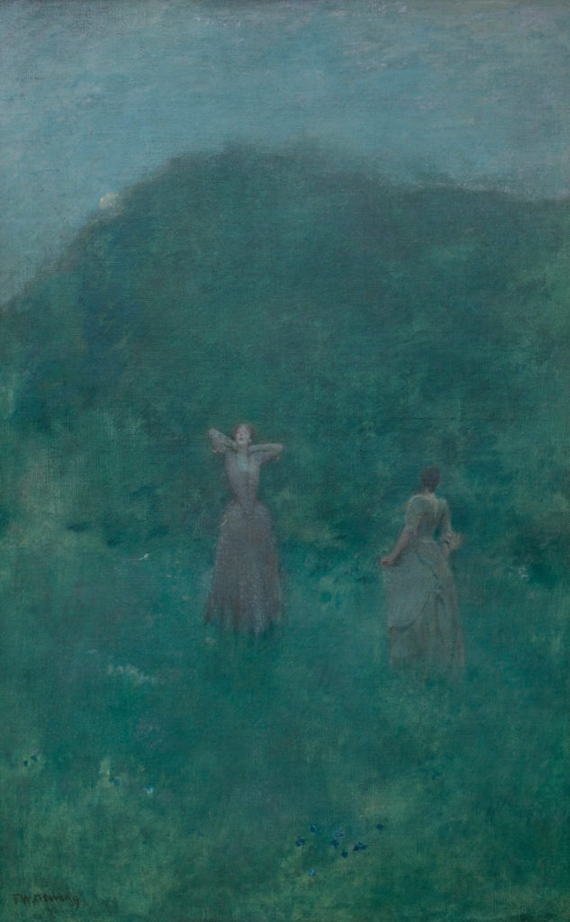 Summer by Thomas Wilmer Dewing, 1893, oil on canvas