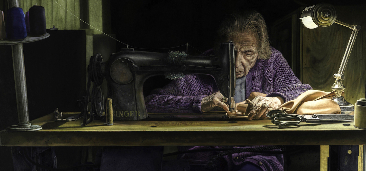 The Dressmaker by Tony Luciani, detail | Artists Over 60 | The 2017 Winners of the Over 60 Art Competition