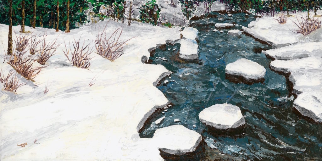 Winter Stream, Vail, Colorado by Val Kuffel | Artists Over 60 | Meet the Winners of the 2017 Over 60 Art Competition | Artists Network