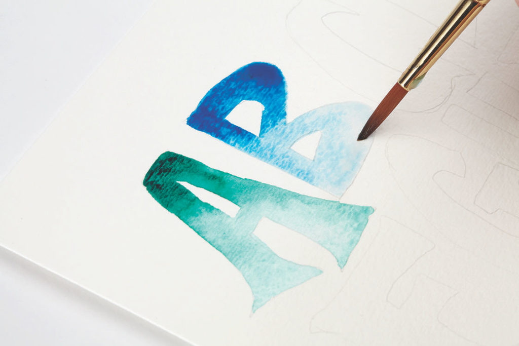 Watercolor Ombre, Step 3 | 10 Hand Lettering Techniques with an Artful Spin by Joanne Sharpe | Artists Network