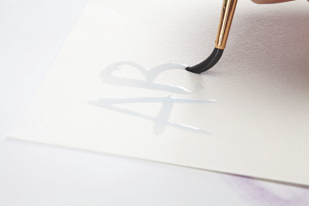 Watercolor Puddlers, Step 1 | 10 Hand Lettering Techniques with an Artful Spin by Joanne Sharpe | Artists Network