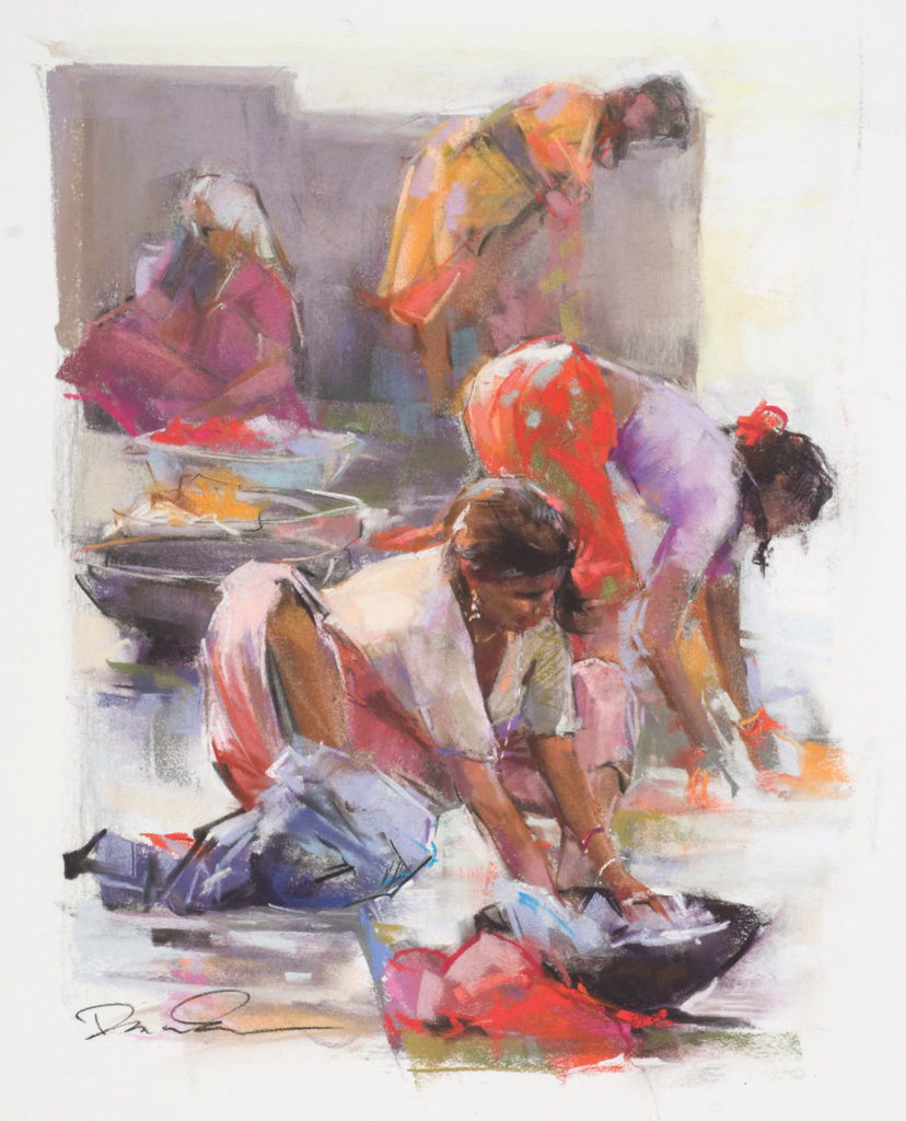 Ghat Women by Dawn Emerson | 20 Pastel Works and Words of Wisdom from 20 Award-Winning Artists | Artists Network