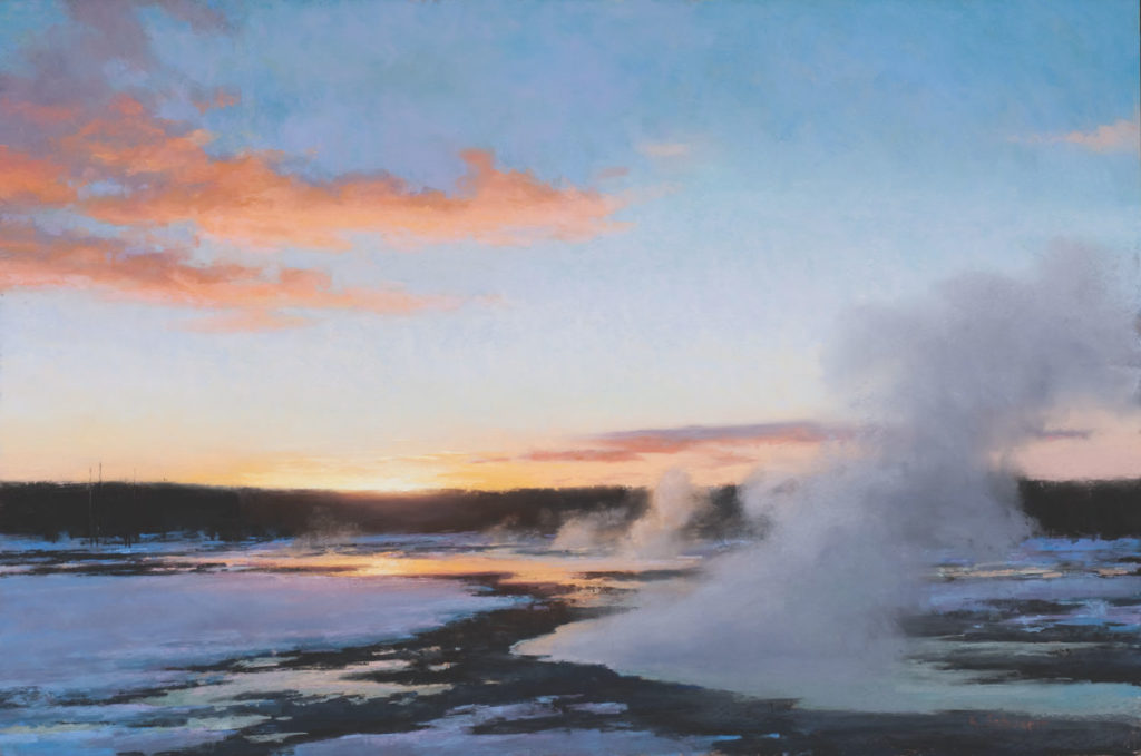 Yellowstone Finale by Aaron Schuerr | 20 Pastel Works and Words of Wisdom from 20 Award-Winning Artists | Artists Network