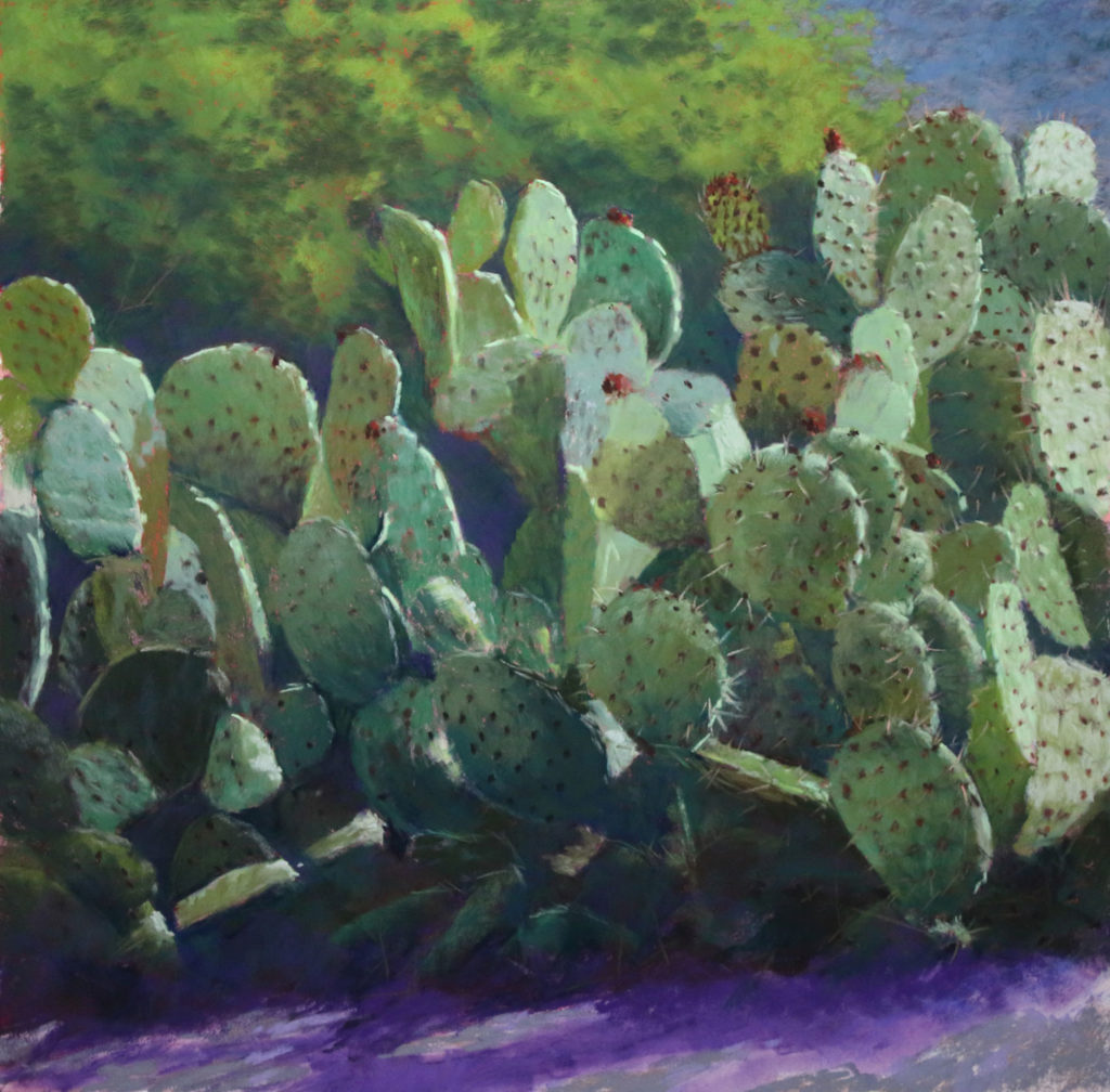 cactus painting demo details begin