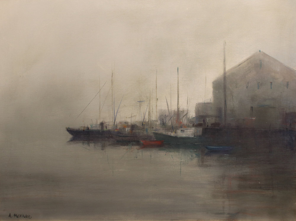 Foggy Wharf by Anne Packard | Anne Packard's Ethereal Landscapes | Where Image and Imagination Merge | Artists Network