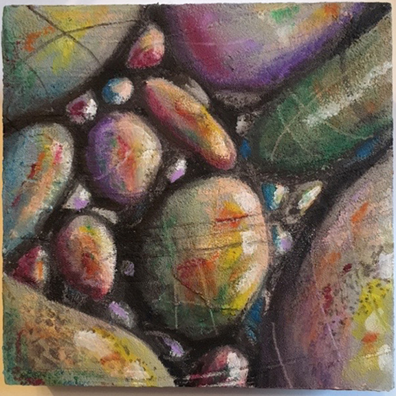 Beach Pebbles by Gayle Mahoney