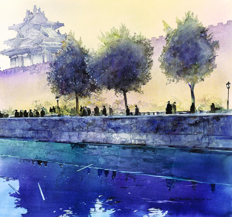 Forbidden City by John Salminen, watercolor
