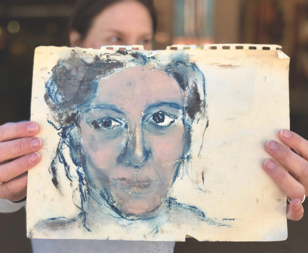 Self-Portrait by Carrie Bloomston | Why Having a Dedicated Drawing Practice is Key for All Artists
