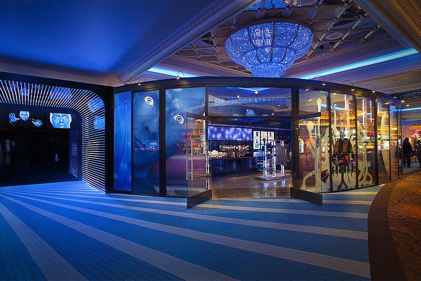 Blue Man Theater in the Monte Carlo Casino in Las Vegas, designed by Stefan G. Boucher.