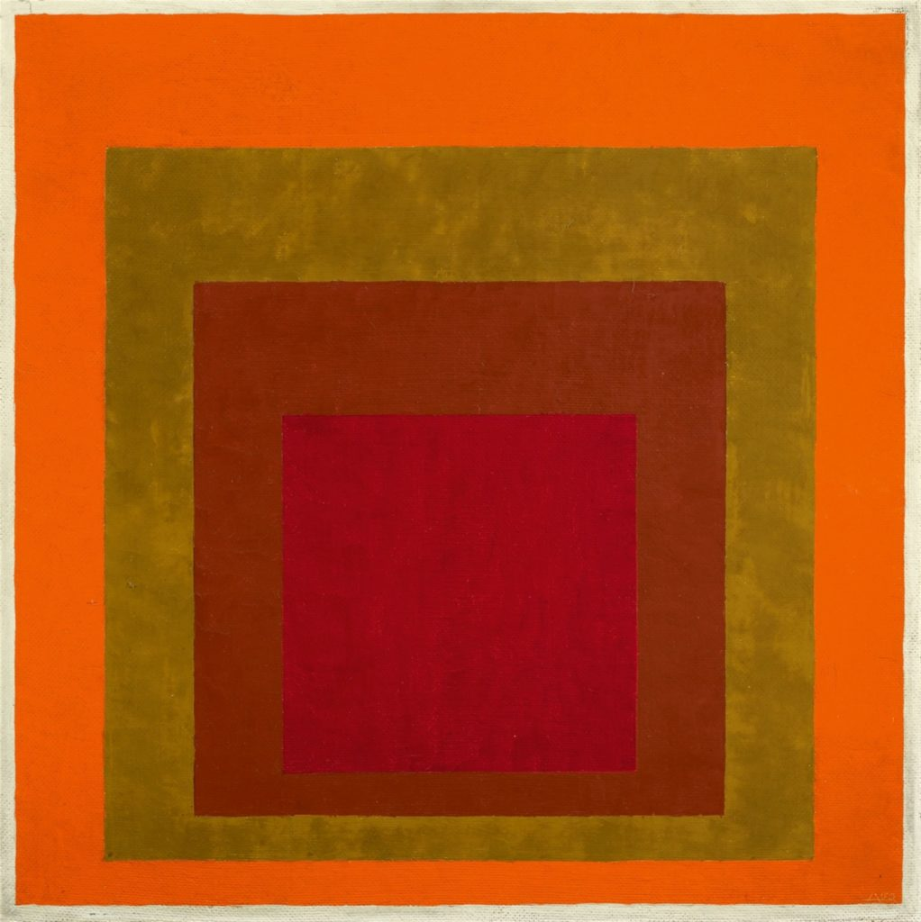 Study to Homage to the Square: Warm Welcom by Josef Albers, 1953-55, oil on masonite.