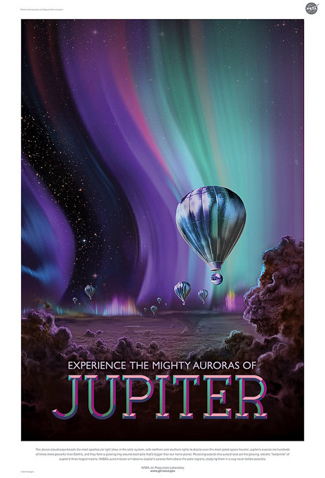 Jupiter poster by Stefan G. Boucher for the Jet Propulsion Laboratory.
