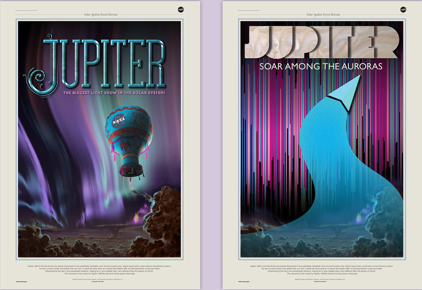 Two trial runs that Stefan explored during the JPL poster project.