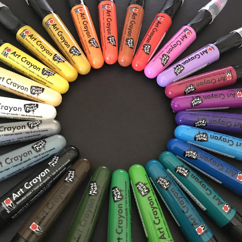 Marabu art crayon