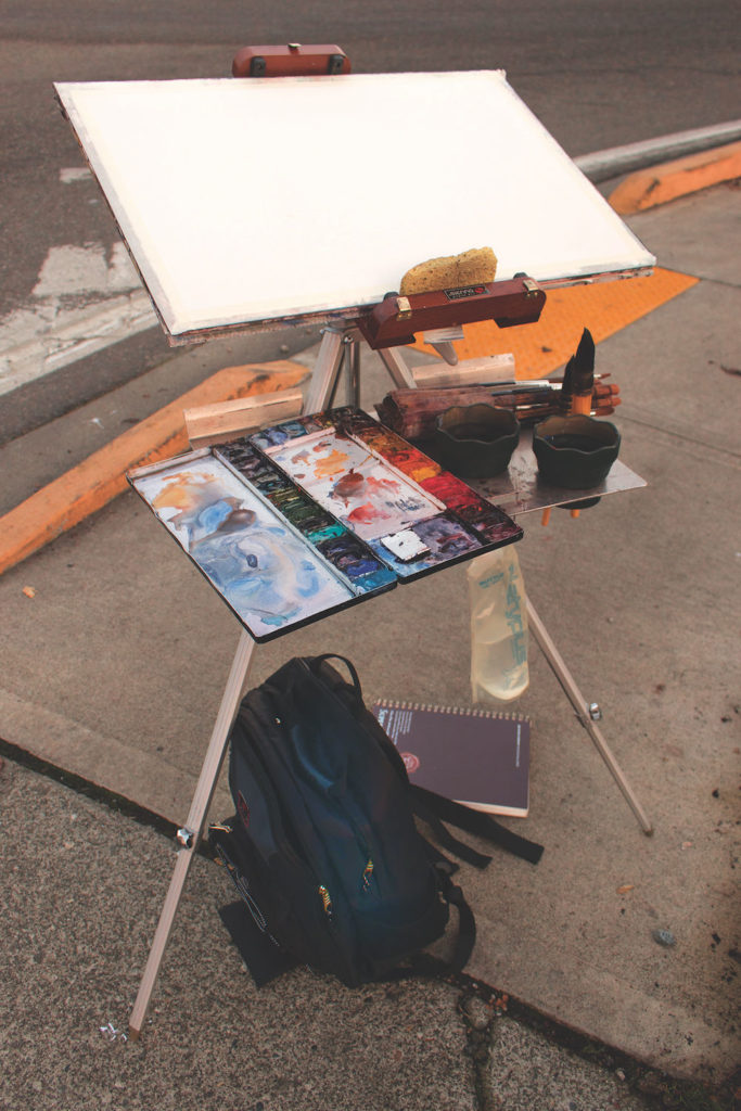 Ron Stocke's Plein Air Tool Kit | Painting at Night on Location | Shining a Light on Key Tips and Tools