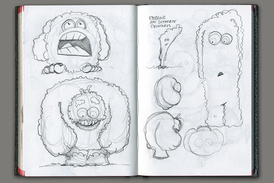 The winning yeti, bottom left, by narrative designer Stefan G. Boucher.