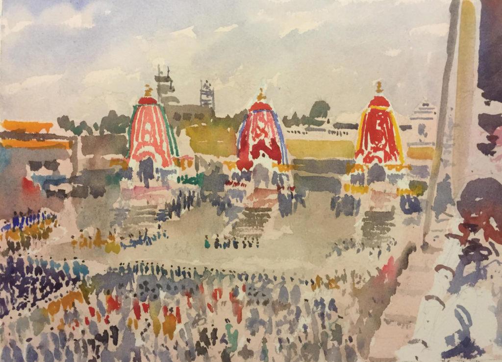 Puri, India Rathayatra festival