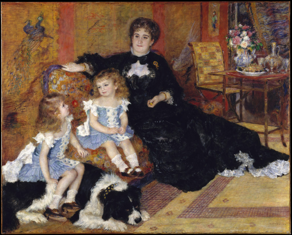 Madame Georges Charpentier and Her Children by Auguste Renoir
