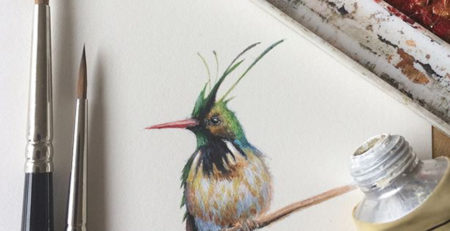 Hummingbird by Dina Brodsky, detail