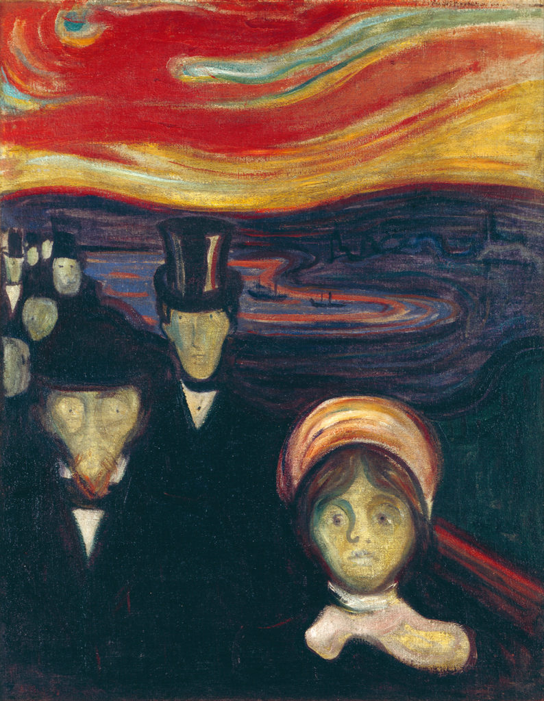 Anxiety by Edvard Munch