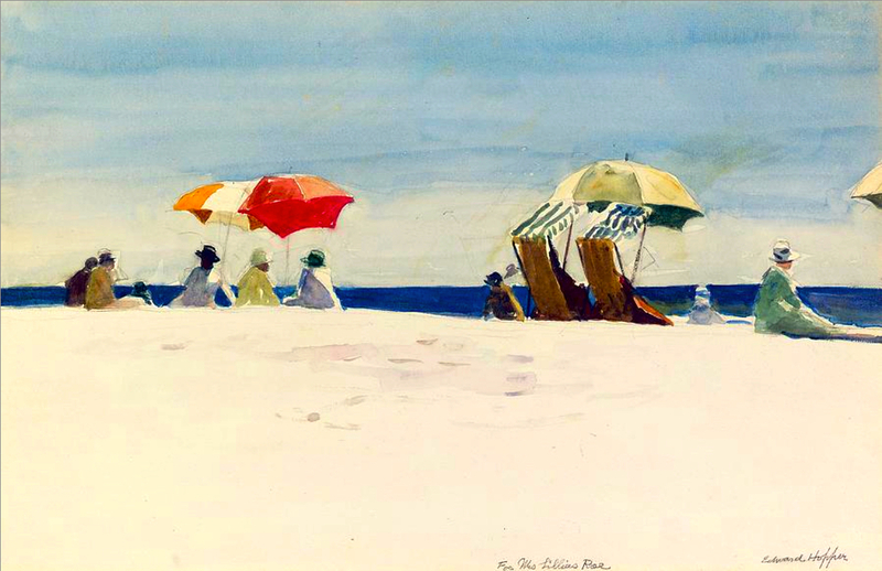 Gloucester Beach, Bass Rocks by Edward Hopper