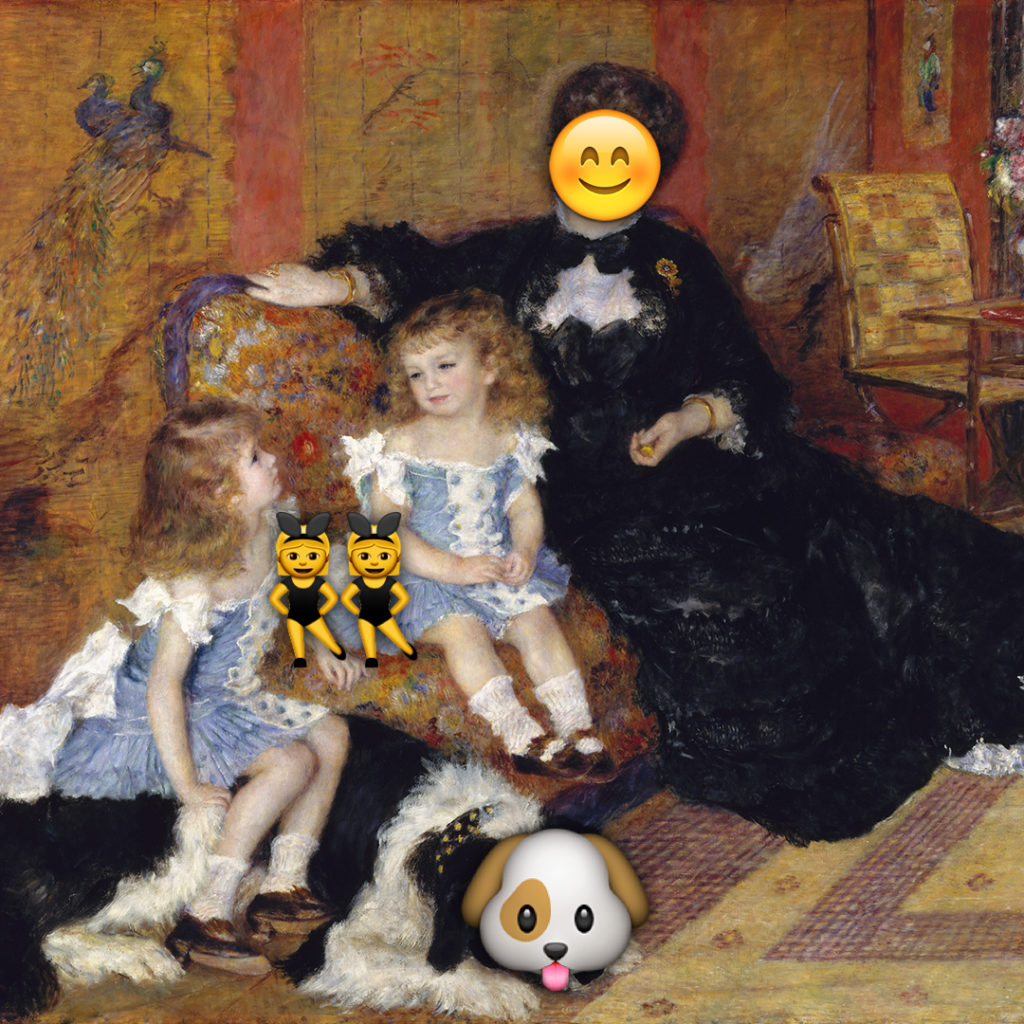 Emoji Day version of Madame Georges Charpentier and Her Children by Auguste Renoir