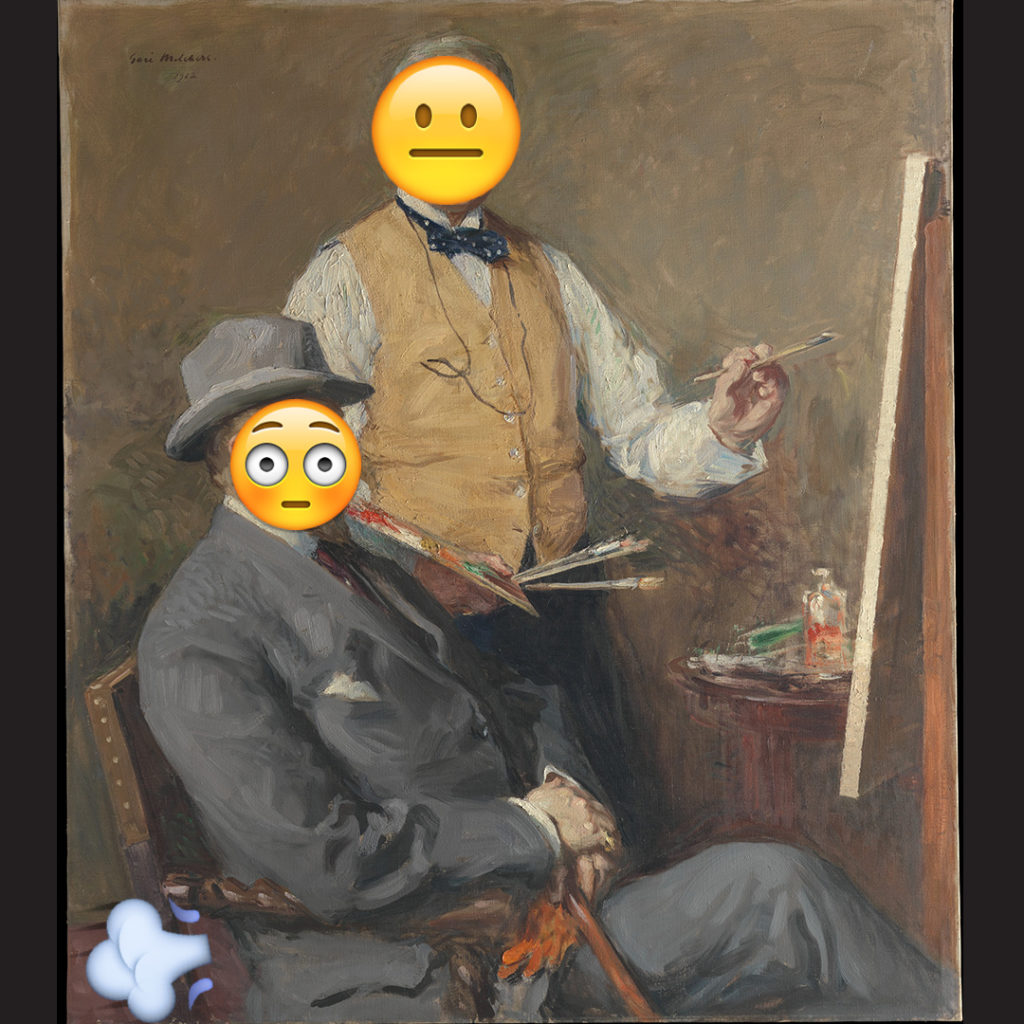 Emoji Day version of In the Studio (Gari Melchers and Hugo Reisinger) by Gari Melchers
