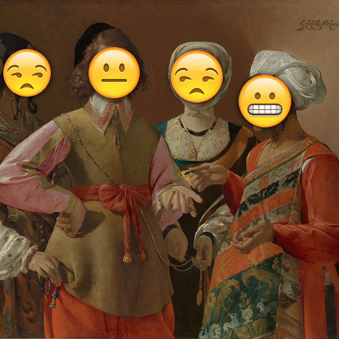 Emoji Day version of Fortune Teller by George de La Tour