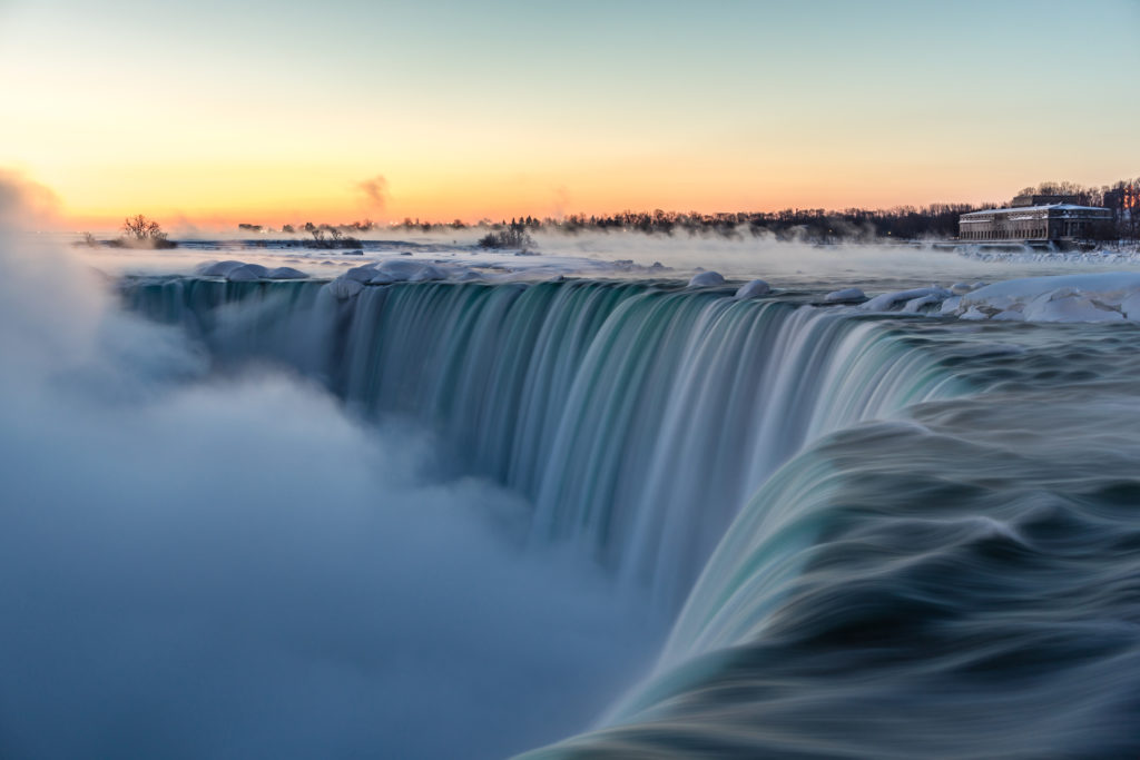 Best places to sketch: Niagara Falls is an iconic place well worth a sketch.