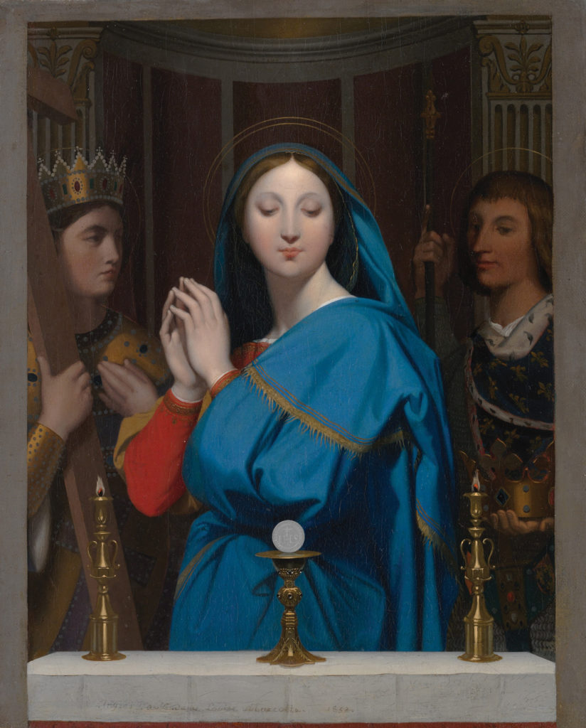 The Virgin Adoring the Host by Jean-AugusteDominique Ingres 1852; oil on canvas, 15⅞ x12⅞