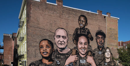 Faces of Homelessness mural by ArtWorks |