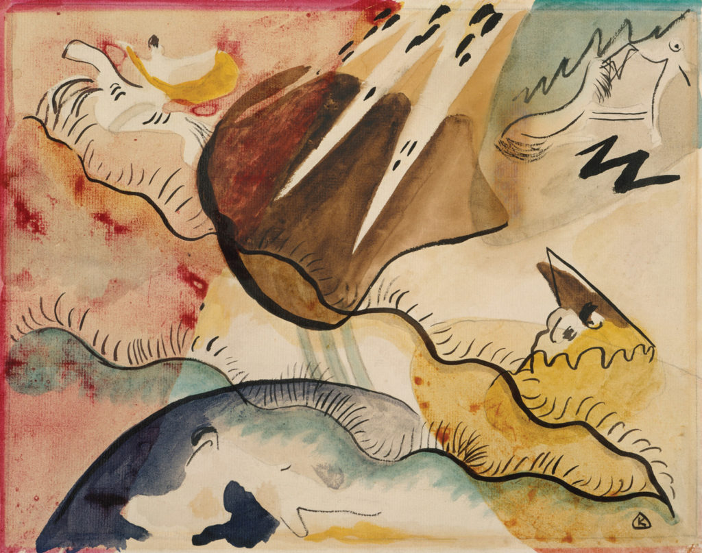 Rain Landscape by Wassily Kandinsky 1911; watercolor on paper, 10x12½