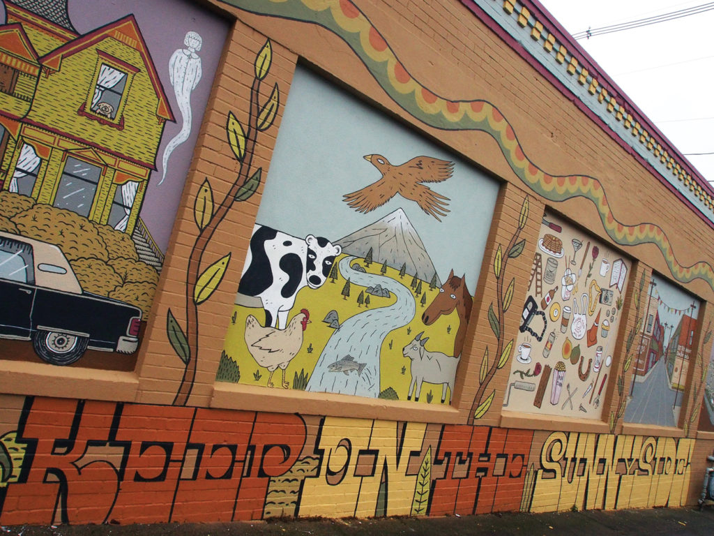 Keep on the Sunnyside Mural; Photo by Tiffany Conklin, PSAA | Erasing the Street Art Stigma | Why Painting in the Streets Works | Artists Network