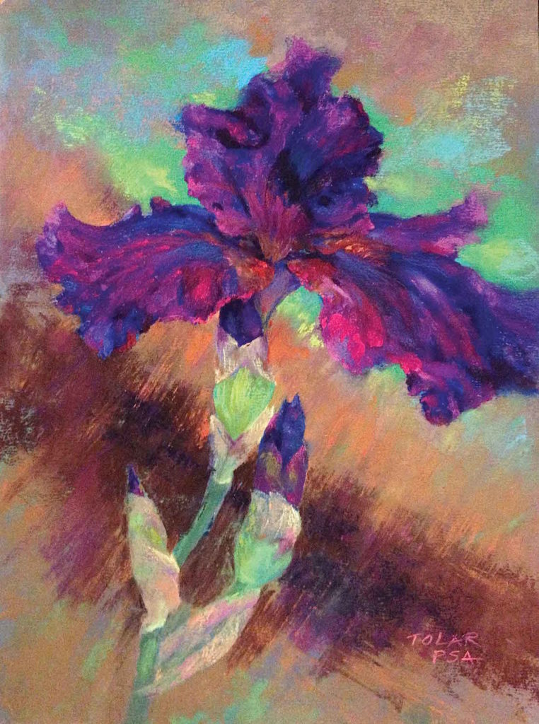 Purple Fancy Pants by Jude Tolar | Iris | 5 Pastel Color Palettes for 5 Floral Favorites | Artists Network