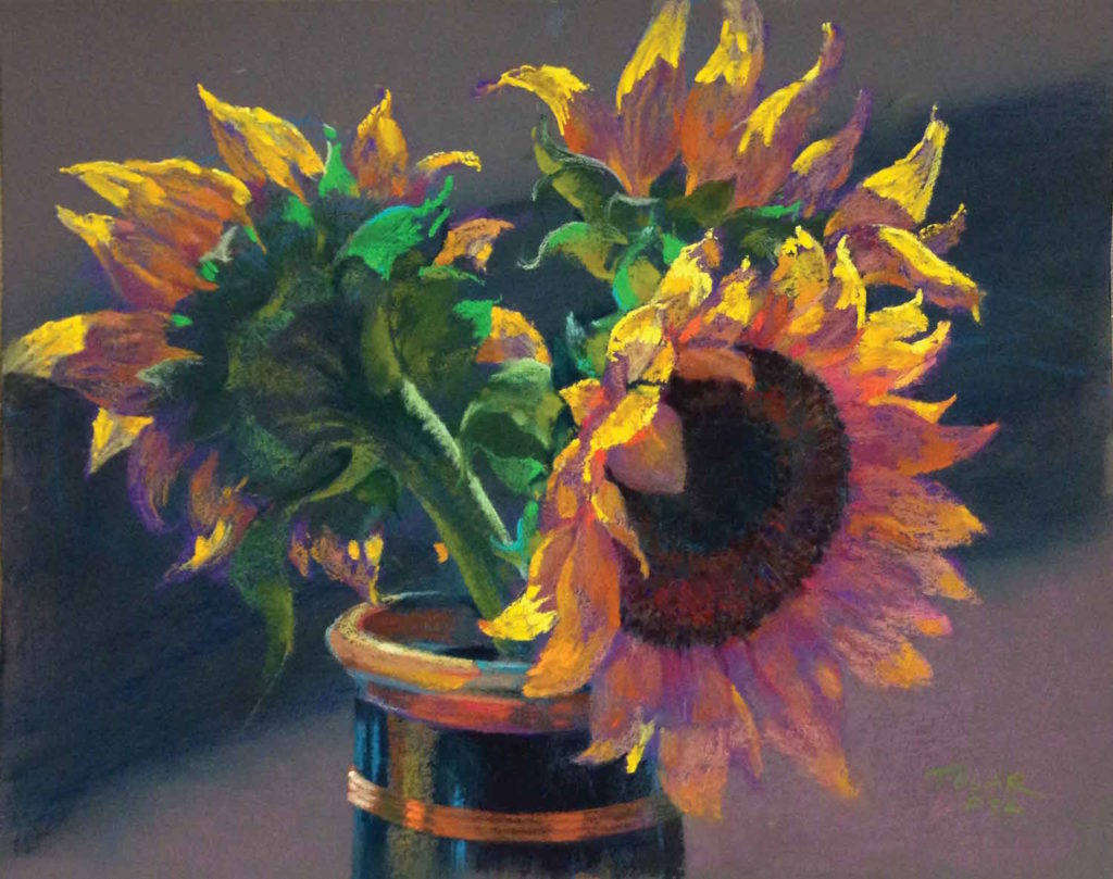 Sunflower Power by Jude Tolar | Sunflower | 5 Pastel Color Palettes for 5 Floral Favorites | Artists Network