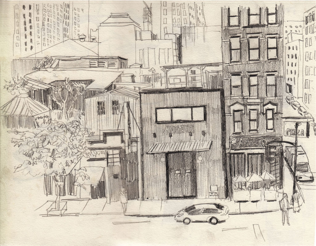 Sketch by Matt Rota. One of the best places to sketch is the street where you live.