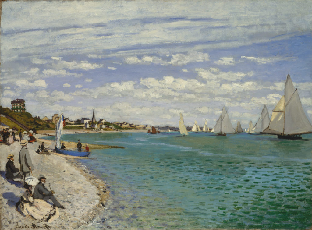 Regatta at Sainte-Adresse by Claude Monet, oil on canvas