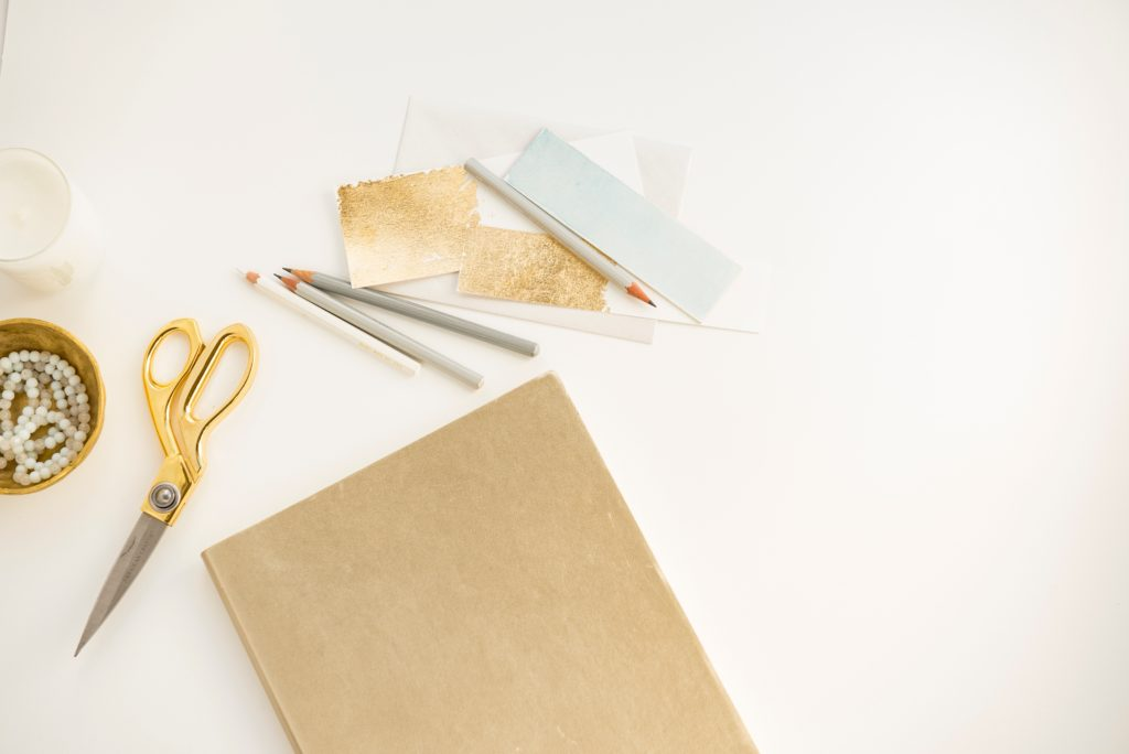 Gold leaf your sketchbook pages for instant gleam!