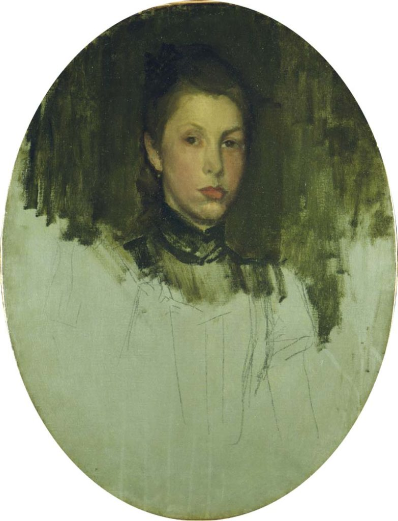 A Paris Model: An unfinished portrait by Whistler held in The Hunterian at the University of Glasgow.