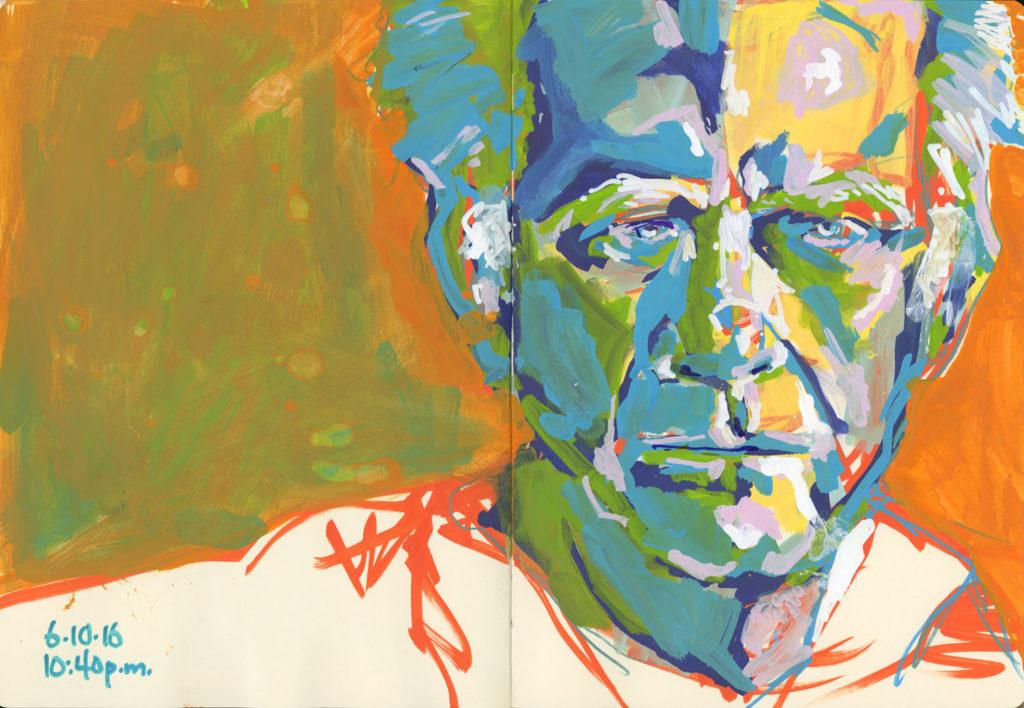 Art sketches from Roz Stendahl: Dick Montana