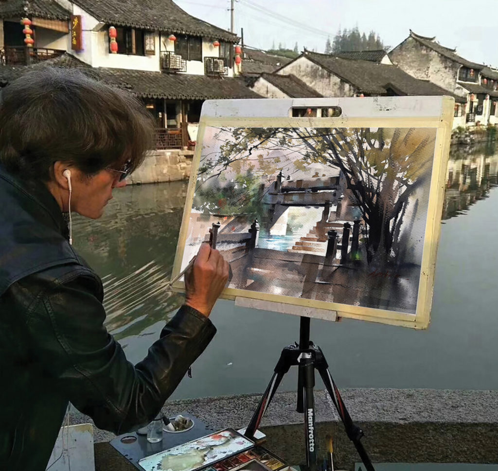 Thomas Schaller on painting on location and traveling light.