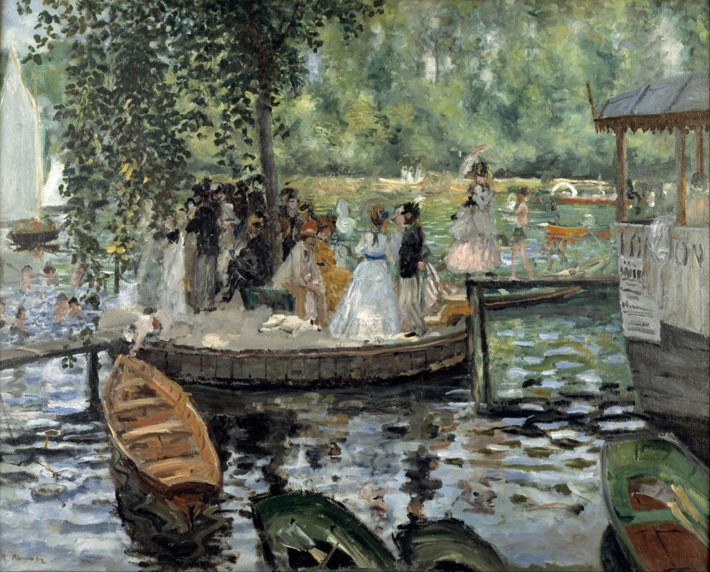 La Grenouillère by Renoir, 1869