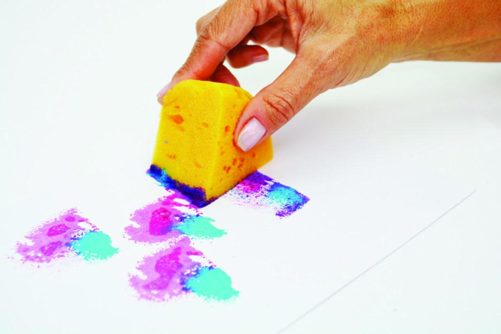 Common tools for mixed media--sponge