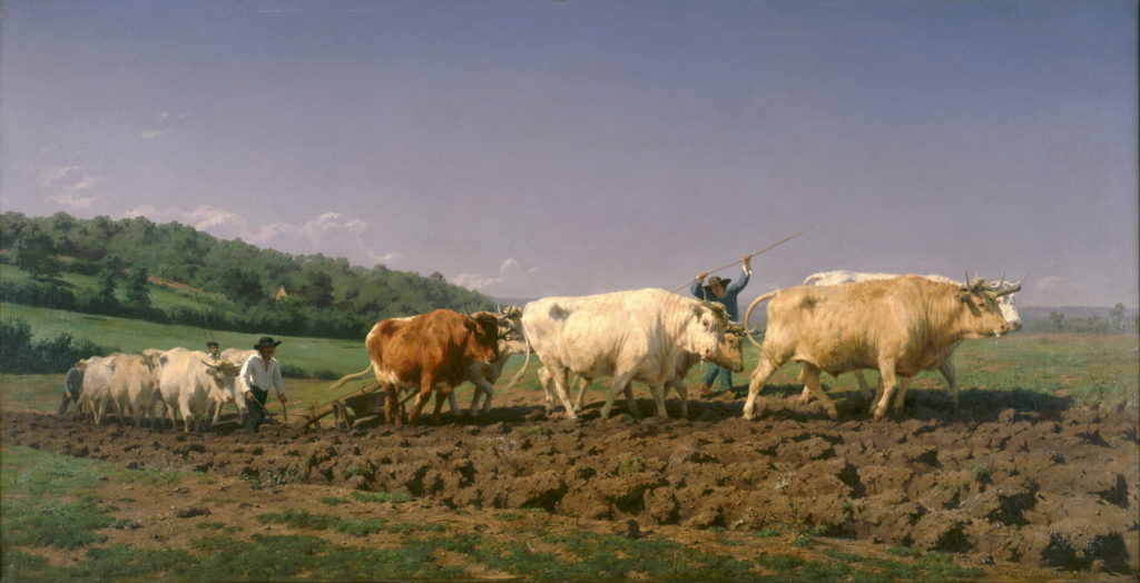 Ploughing in the Nivernais by Rosa Bonheur