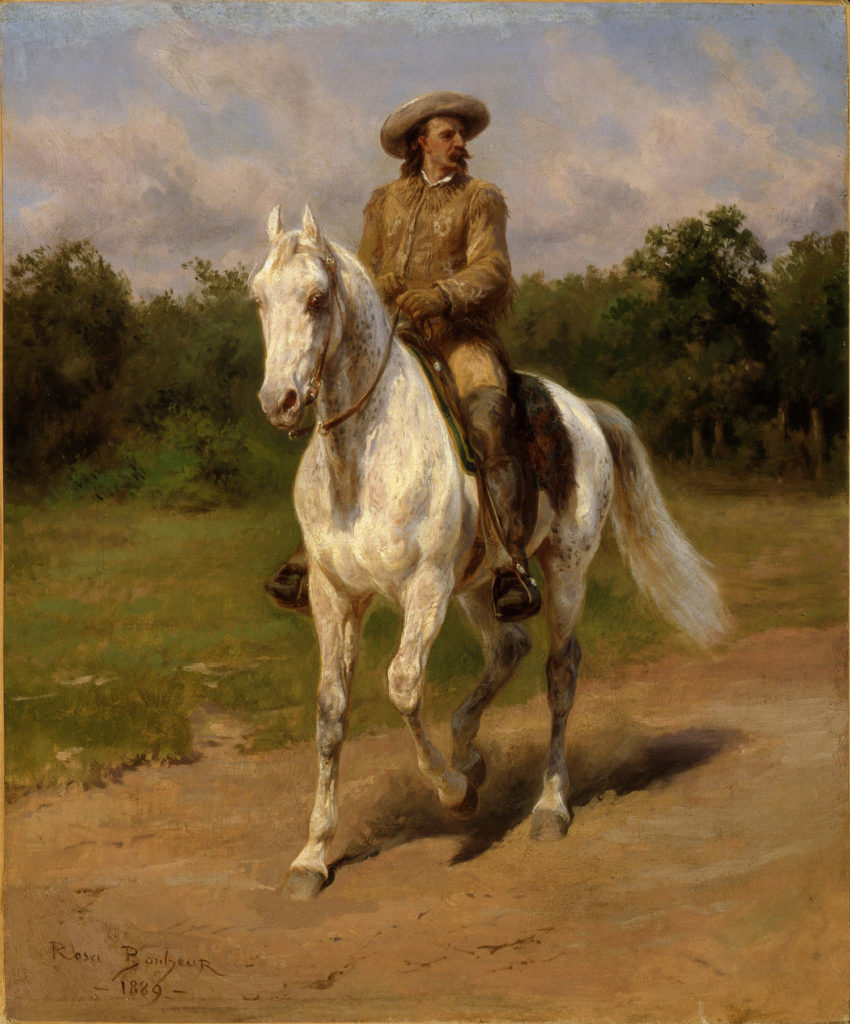 Portrait at Horse of Col. William F. Cody by Rosa Bonheur
